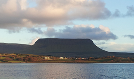 Benbulben mountain from Streedagh